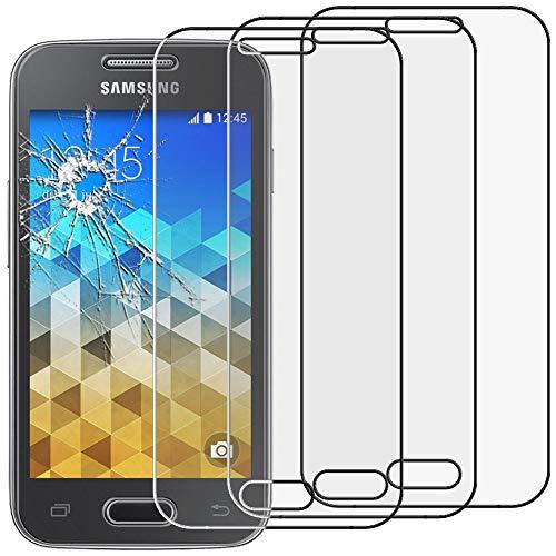 """ebestStar - [Lote x3 Cristal Templado Compatible con Samsung Galaxy Trend 2 Lite SM-G318H, Galaxy V Plus Protector Pantalla, Película Dureza 9H, Sin-Burbujas [Aparato: 121.4x62.9x10.7mm 4.0""""]"""