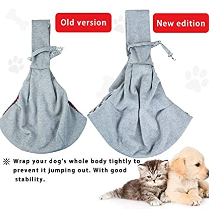 GHIFANT Dog and Cat Sling Carrier Little Pet Carrier Shoulder Crossbody Pet Slings for Outdoor Traveling Subway (Large Space) 7