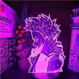 Lámpara de ilusión LED 3DHero academy7 Variaciones de color Gradientes Placa de acrílico Lámpara de escritorio Decoración de dormitorio-16 color remote control