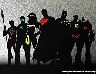 Justice League Outline Silhouette Logo Symbol Outline Metal Cutout Spray Paint Art