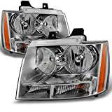 For Chevy Avalanche Suburban Tahoe Clear Headlights Head Lamps Left + Right Replacement Pa...