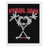 "Pearl Jam パール・ジャム ダイヤモンドアート ダイヤモンド画 5d ダイヤモンドペインティング DIY 手作り絵画手芸キット モザイクアート ビーズアート全面貼り付けタイプ 手芸 刺しゅうキット 家の壁の装飾工芸品 大人子供 16""×20"""