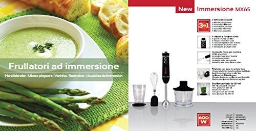 Girmi MX65 Mixer ad Immersione 600 W, Kit ACC