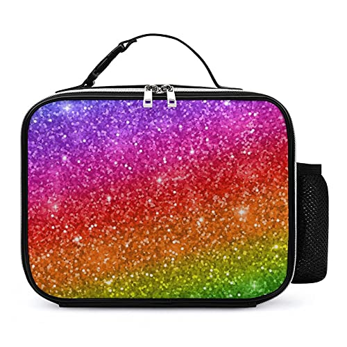 Bolsa Porta Alimentos Colores Del Arco Iris Brillante Bolsas Térmicas Comida Bolsa Nevera Para Almuerzo Para Escuela Oficina Viajes 21x27x9cm