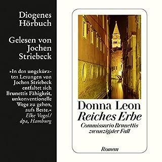 Reiches Erbe     Guido Brunetti 20              Autor:                                                                                                                                 Donna Leon                               Sprecher:                                                                                                                                 Jochen Striebeck                      Spieldauer: 9 Std. und 23 Min.     273 Bewertungen     Gesamt 3,9