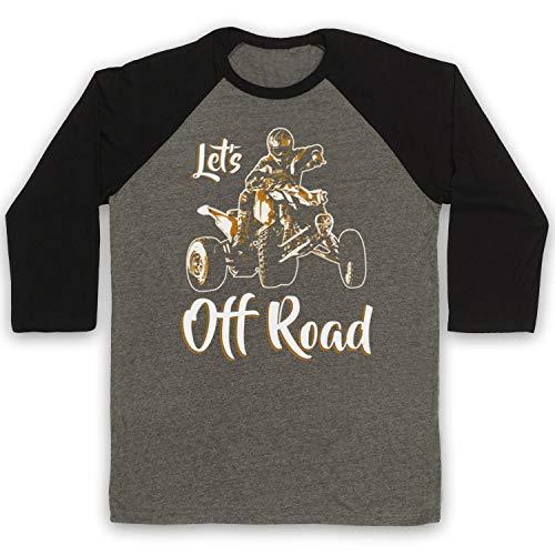 Mijn icoon kunst & kleding Laten we uit weg Quad fietsen UTV ATV 3/4 mouw Retro Honkbal Tee