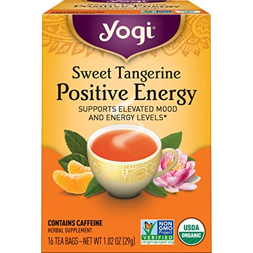 Yogi Tea - Sweet Tangerine Positive Energy (6 Pack) - Supports Elevated Mood and Energy Levels - 96 Tea Bags