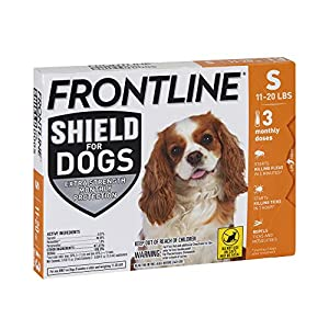 FRONTLINE Shield for Dogs Flea & Tick Treatment, 11-20 lbs, 3ct