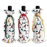 Weihnachtliche Weihnachtswichtel, niedliche Elf-Lampe, Frohe Weihnachten, Rotwein-Flaschen-Beutel, 3-teiliges Set, Esszimmertisch, Party, Urlaub, Urlaub, Fiesta, Dekoration, Ornament, Geschenk