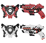 Laser Tag, NXONE Laser Tag Sets With Gun & Vest, Laser Tag Guns Set of 2 with Innovative Smoke Effect & LCD, 150Ft Infrared Laser Tag for Kids, Laser Tag Gaming Set Indoor & outdoor for Adults, Family