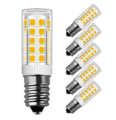 Bombilla E14 LED de 5W, 330lm, Blanca Cálida 3000 K, Recambio de 40W, Ángulo de Haz de 360°, 220-240V AC, MENTA ,No Regulable - Pack de 5