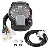 Tachimetri Per Moto,Contachilometri Digitale LCD Colorato Universale Con Tachimetro Digitale W/Sensore Di Velocità