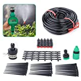 Irrigation System with Timer - 25M Garden Water Timer LCD Waterproof Automatic Irrigation