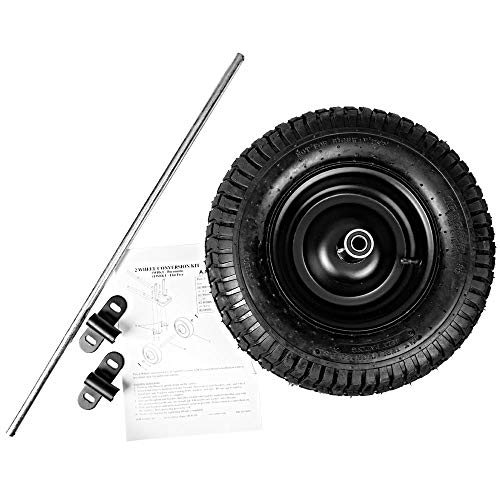 A.M. Leonard Wheelbarrow Conversion Kit, Pneumatic Tire (Wide...