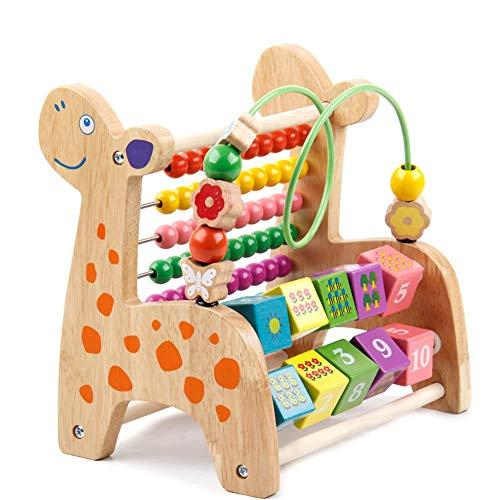 La montaña rusa de madera del grano de laberinto Marco del grano de la montaña rusa Maze Toy juguete de desarrollo, bolas de madera de colores brillantes, las actividades de extensión, gran regalo for
