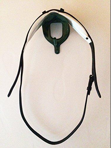 gs.-sports Soft weiches Kopf.- Genickstück für Trensen flexibel an den Ohren sowie anatomisch als Tunnel gepolstert (Full/Warmblut, schwarz/weiß/silberfarbene Schnallen)