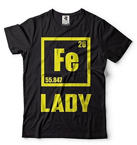 Silk Road Tees Hombres Dama de Hierro Camiseta Divertida química Elet Ferum Camiseta