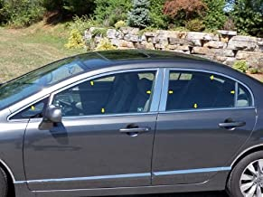 QAA fits 2006-2011 Honda Civic (16 Piece Stainless Window Trim Package, Includes Upper Trim, Pillar Posts and Window Sills - Full Package) WP26214