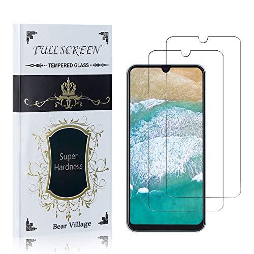 Bear Village® Displayschutzfolie für Galaxy A50, HD Panzerglasfolie, 99% Transparente, 9H Härtegrad Schutzfilm aus Gehärtetem Glas für Samsung Galaxy A50, 2 Stück