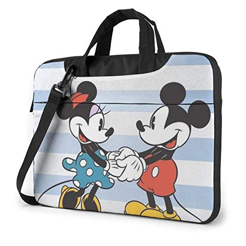 13 Inch Laptop Bag Minnie Mouse and Mickey Laptop Briefcase Shoulder Messenger Bag Case Sleeve