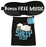 Luxury Contured & Comfortable Sleep Mask & Ear Plugs. Includes Music, Carry Pouch For Mask & Ear Plugs. For Travel, Shift Work, Naps, Meditation & Yoga. Made By Sheep Sleep.