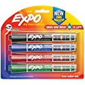 4-Pack Expo Dry Erase Markers with Ink Indicator