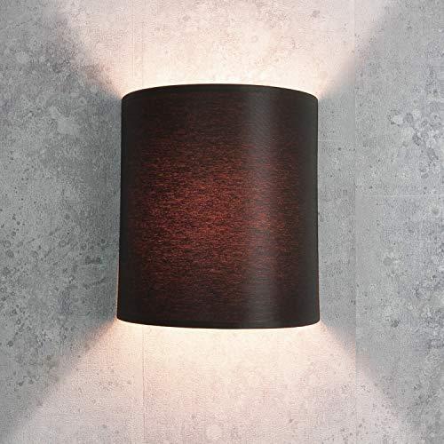 Lámpara de pared Loft / en estilo moderno / marrón / pantalla de tela / 1x E27 hasta máx. 60W 230V / lámpara de pared interior compacta / iluminación salón dormitorio