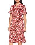 PIECES Pcamice SS Midi Wrap Dress Vestido, Baya de Goji, S para Mujer