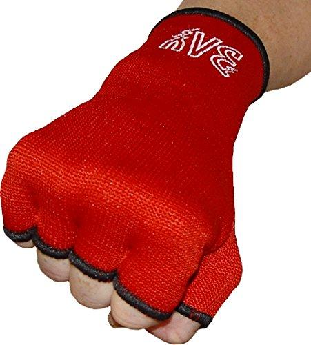 BAY® Schlupfbandagen Größe L, rot, Faustbandagen, elastische Innenhandschuhe, Handbandagen, Boxbandagen, Box-Bandagen, 1 Paar
