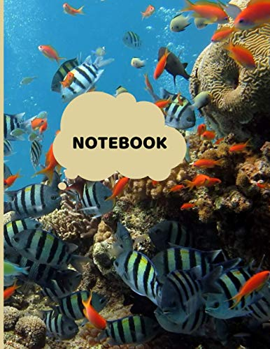 Notebook: Very nice blanket that makes you dream of vacations in the sun and on the beach. An aquarium on a notebook, a diary to fill in for everyone. Great gift to offer, format 8,5 x 11, 120 pages.