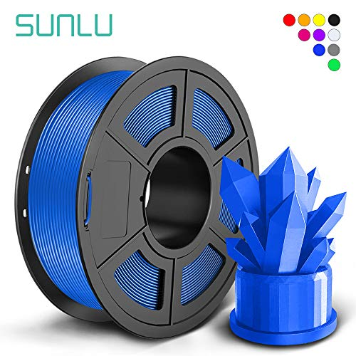 SUNLU PLA+ Filament 1.75mm for 3D Printer & 3D Pens, 1KG (2.2LBS) PLA+ 3D Printer Filament Tolerance Accuracy +/- 0.02 mm, Blue