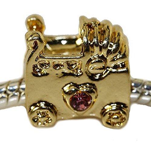 Sexy Sparkles Damen-Baby Buggy mit Farbe Strass Charm Bead für Schlange Kette Armbänder