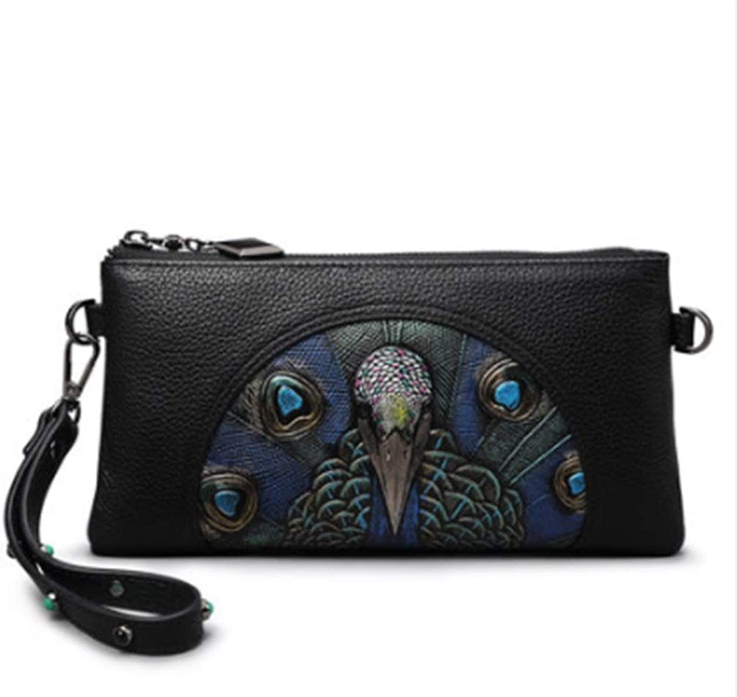 Women's Wallet, 2019 New Leather Clutch Bag Personalized Fashion Mini Bag Ladies Hand Bag (color   A, Size   23.5cmX13cm2CM)