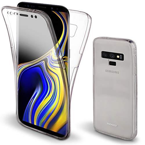 Moozy 360 Grad Hülle für Samsung Note 9 - Vorne & Hinten Transparenter TPU Ultra Dünne Weiche Silikon Handyhülle Hülle