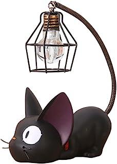 VORCOOL Résine Chat Design Lampe Creative Night Light Table Lampes de Chevet pour la Lecture (Fil de Fer Abat-Jour)