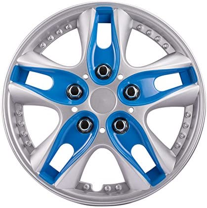 ATMOMO 13 Inch Blue ABS Plastic Hubcaps Premium Double Coated Car Vehicle Wheel Rim Skin Cover product image