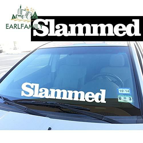 A/X 71cm x 12.7cm Slammed Front Windshield Banner Decal Car Sticker Ek Eg Stance Ek Eg Waterproof Car Accessories