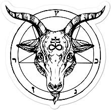 Amazon Com Cadburychihuahua Baphomet Lucifer Satan Satanist Satanic Occult Leviathan Cross Bubble Free Sticker For Laptop Bumper Window Car Cadburychihuahua Home Kitchen