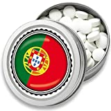 FAN Mint | 3er Set Pfefferminz Bonbons mit Portugal Flagge | Geschenk, Souvenir Portugal Fahne | Bonbon-Dose, Fan-Artikel, Party Deko (Portugal)
