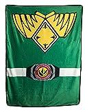 Power Rangers Green Ranger Fleece Soft Throw Blanket