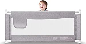 CXHMYC Crib protection for children and infants  73-speed height adjustment speeds  with one side zipper  gray   size  2 2