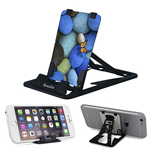 Slim-Pro Stand by Amusent-Ultra Slim Portable Phone Stand, Kickstand-Pocket Size-Foldable, Adjustable, Multi-Angle, Compatible w/iPhone, Smartphones & Tablets