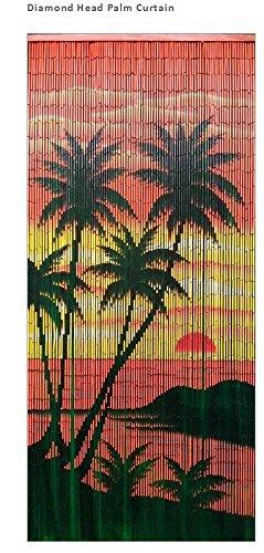 Diamond Head Palm Szene Bambus-Vorhang