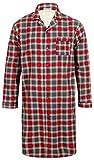 Walker Reid Hommes Flanelle de Coton Chemise de Nuit Traditionnelle à Manches Longues et à Carreaux Rouges XXX Grand
