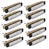 Fushengda 10PCS 6SMD LED bianco 12V indicatori laterali luci anteriori posteriori indicatori di luce luci di posizione laterali per camion caravan camper barca trattore Bus camion camper