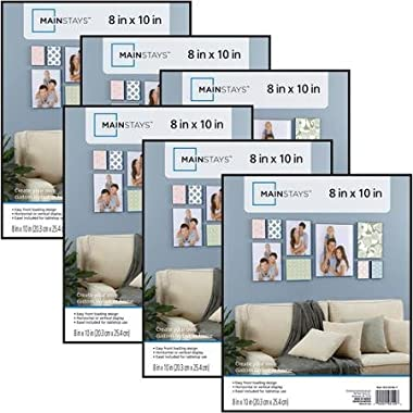 Mainstays 8x10 Picture Frames, Set of 6