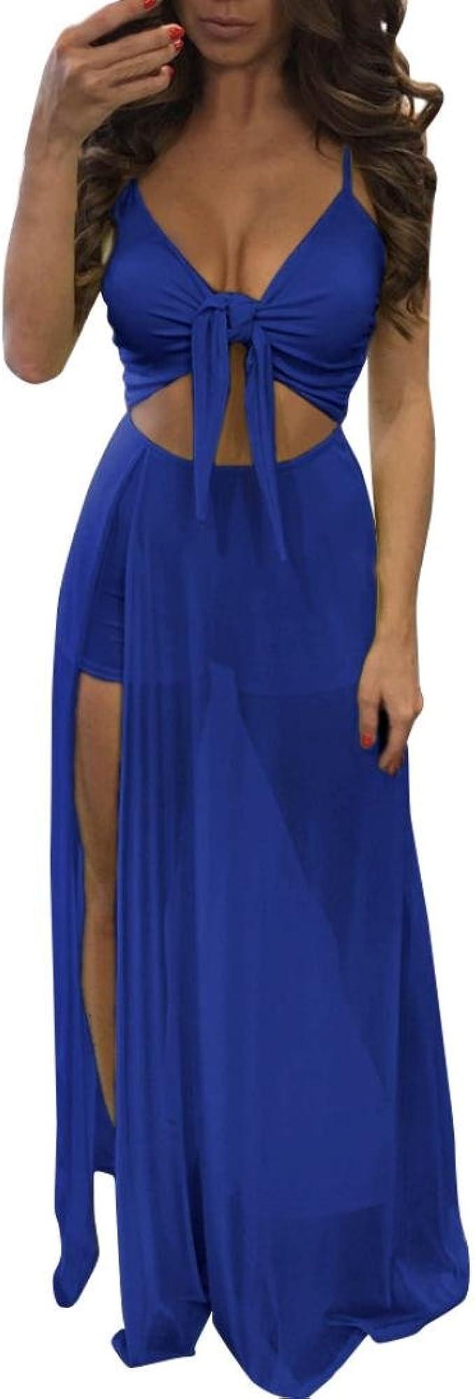 Youban Damen Sexy Kleid Jumpsuit Strampler Kurze Hose Kleid Bodycon Playsuit Langes Kleid Strandkleid Sexy Minikleid Sommerkleid Partykleid Gunstige Abendkleider S Blau Amazon De Bekleidung