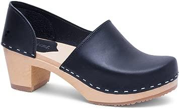 Sandgrens Swedish High Heel Wooden Clogs for Women | Brett