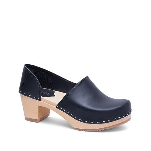 7f94d1de673 Sandgrens Swedish High Heel Wooden Clogs for Women
