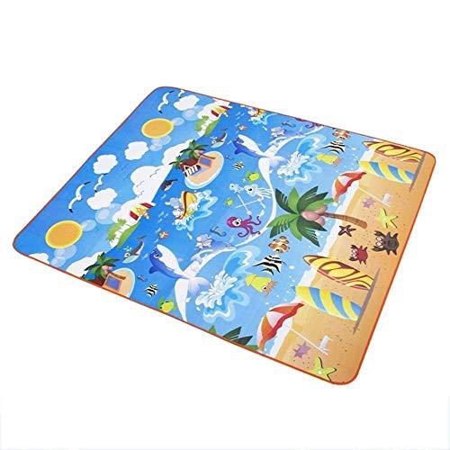 YYF Dauerhaft Strandmatte Cartoon Picknick-Matte im Freien Picknick-Decke bewegliche wasserdicht wasserdicht (Color : C, Size : 180×200cm)
